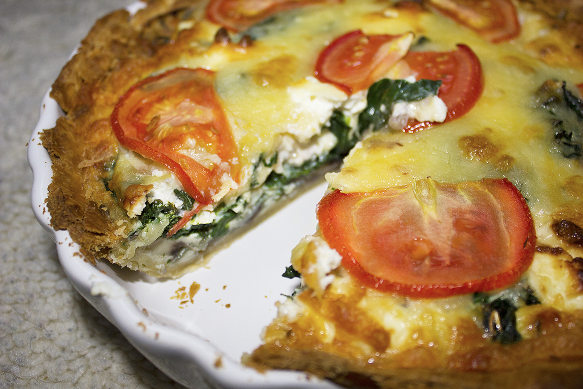 Spinach, Mushroom and Goats Cheese Quiche Recipe - Becca's ...