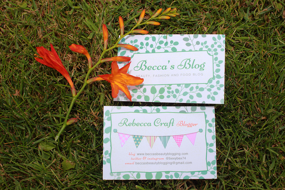 Why Bloggers Need Business Cards - Becca\'s Food Blog