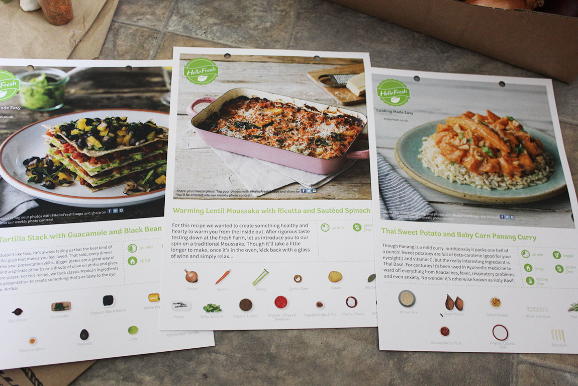 Keeping food in mind with hellofresh beccas food blog recipe cards for the week forumfinder Images
