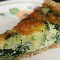 Spinach and Quiche Vegetarian Recipe